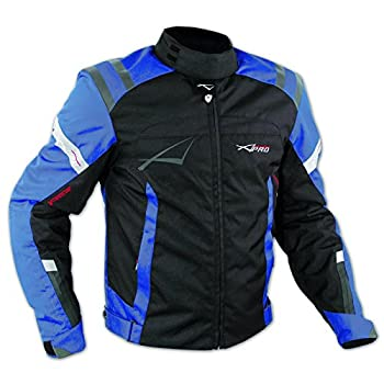 Blouson Textile Motard Sport Protections Doublure Hiver Moto Touring bleu XL