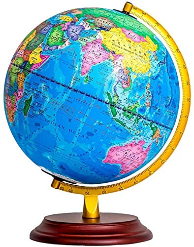 THj Antique World Globe Desktop Education Geographic Earth Globes for Kids & Adults Home Office Geography Educational Decorations Ornaments,B