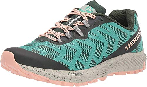 Merrell Women's Agility Synthesis Flex Trail Runner Shoe Running, Green, 8.5 M US