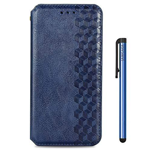 JAWCASA Funda para Galaxy A30, Billetera Flip Funda de Piel PU Cubierta Cierre Magnética Delgada [Soporte Plegable] [Ranura para Tarjeta] Protectora Case para Samsung Galaxy A30 (Azul)