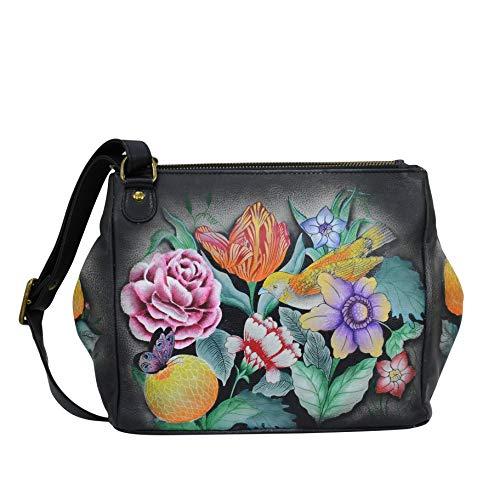 Anuschka Damen Echtledertasche – 3 Fächer wandelbare Tragetasche - - Einheitsgröße