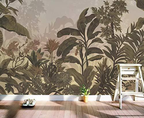 Shukan muurschildering met de hand getekend tropisch regenwoud western schilderij woonkamer slaapkamer achtergrond muurschildering behang 315(L)*232(H) cm