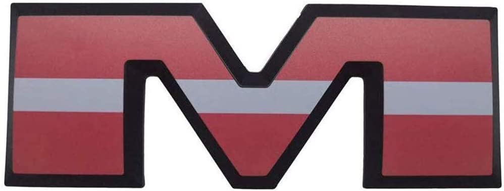 XCBW Insignia del Emblema del Logotipo de la Letra RAM 3D de ...