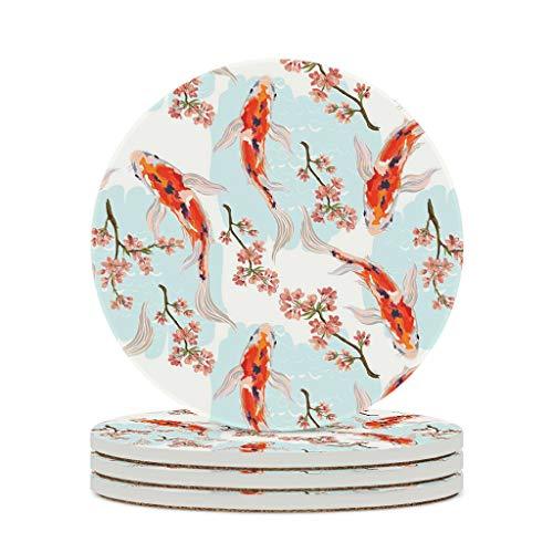 LIFOOST Posavasos de cerámica duradero y personal moderno – Vasos de agua para exteriores para regalo de Navidad, color blanco, 6 unidades