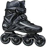 Herren Damen Inlineskates Profi Skates Inlineskates schwarz geeignet für Erwachsene, Kinder und Anfänger, 36
