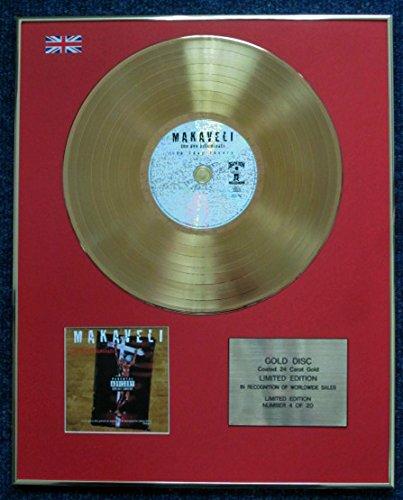Century Presentations Tupac Shakur Schallplatte, limitierte Auflage, CD 24 Karat vergoldet, The Don Killuminati: The 7 Day Theory