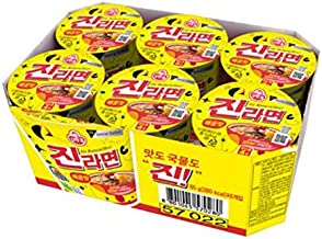 Ottogi Jin Ramyun Spicy Cup Noodle, 65g (Pack of 6)