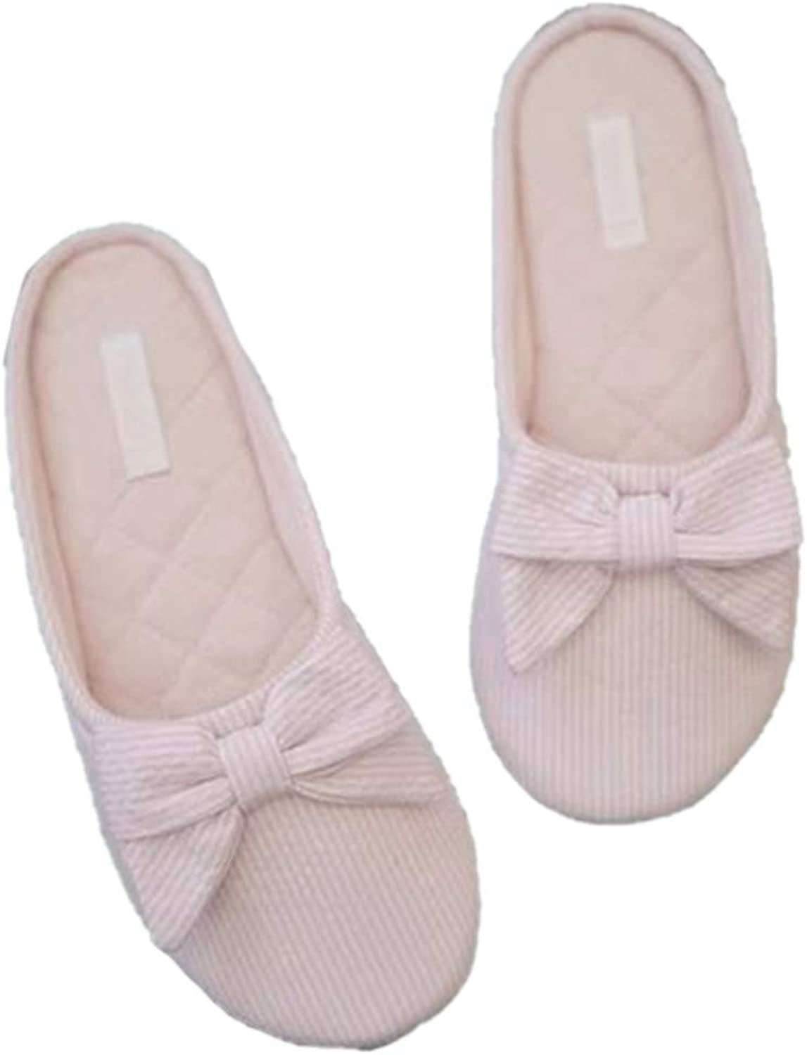 Nafanio Striped Winter Slippers Warm Women Home House shoes for Indoor Bedroom Flats Cotton shoes