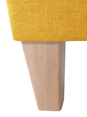 Max Winzer Sessel Lucca | Aus Flachgewebe in gelb | 2343-1100-1645254