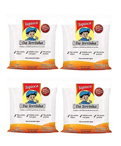 Tapioca Da Terrinha – Terrinha – Tapioca hidratada – 17.64 oz (Paquete de 4)   Tapioca Hidratada Da Terrinha – 500 g
