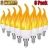 Severino E12 Flame Bulb LED Candelabra Light Bulbs,1.2 Watt Chandelier Bulbs, 3 Mode...