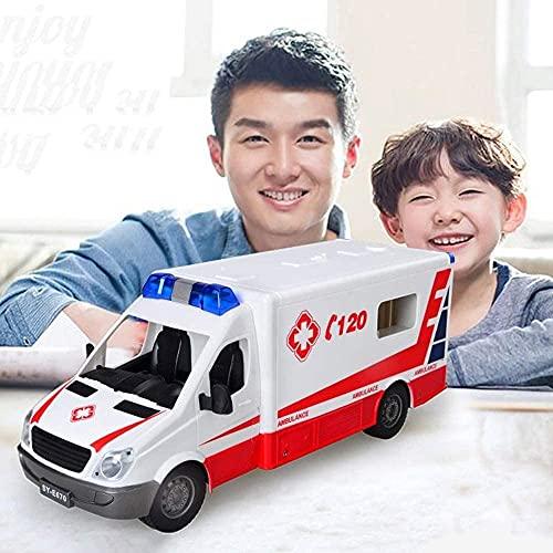 M-zen RC Hospital Rescue Ambulance Coches de policía Coche radiocontrolado para niños Camión de Bomberos Vehículos Modelo Control Remoto Regalos educativos para niños Coche eléctrico Vehículo Campo