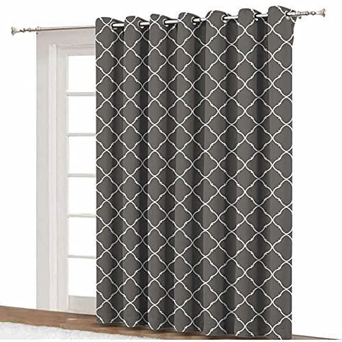 ousente Rideau de séparation de pièce géométrique - Style floral - Inspiration culturelle arabe - Motifs courbes - Œillets décoratifs - 22,4 x 2,1 cm - Pour chambre à coucher,...