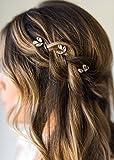 Kercisbeauty - Horquillas para el pelo con cristales para bodas, bailes de graduación, 5 unidades