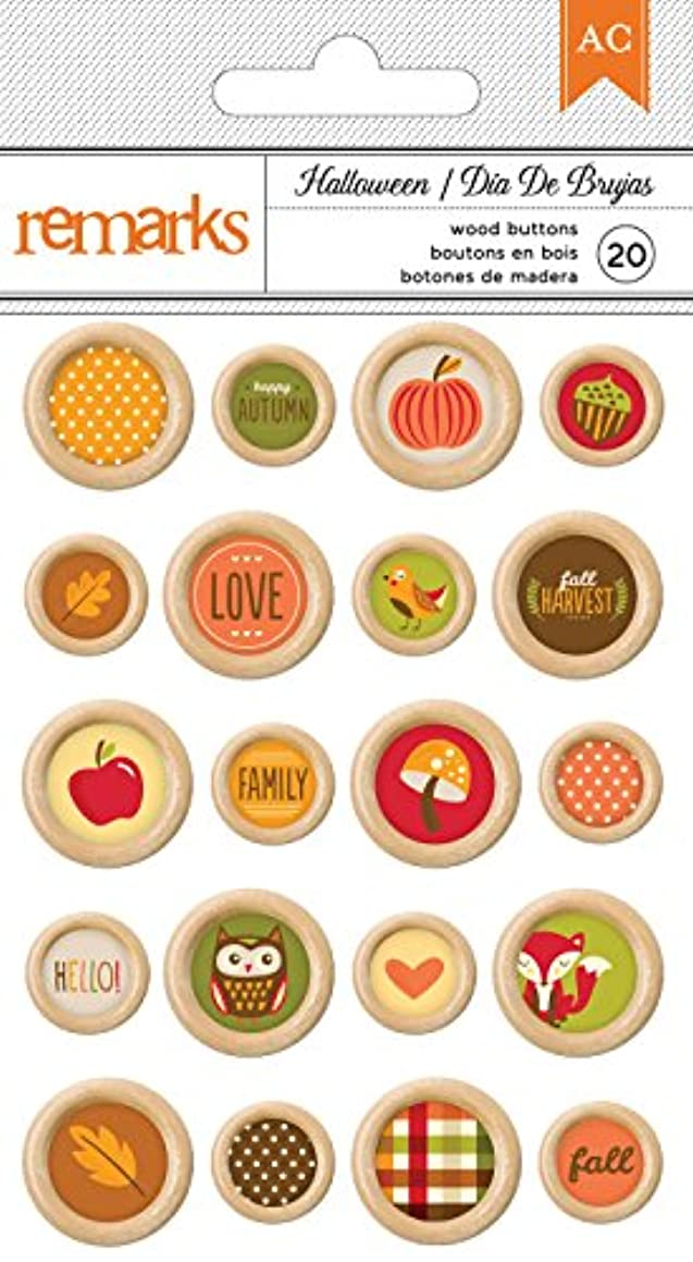 American Crafts Halloween Buttons 20 Piece