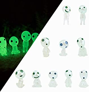 Garden Statue, Garden Gnome Statue Figurine, 10 PCS Princess Mononoke Tree Spirit Luminous Outdoor Lawn Decor Gardening Po...