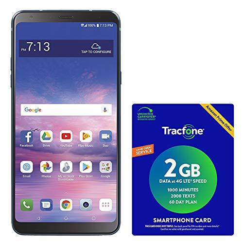 TracFone LG Stylo 4 4G LTE Prepaid Smartphone with Amazon Exclusive $40 Airtime Bundle
