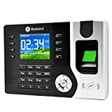 Realand A-C071 2.4' Colorful Screen Biometric Fingerprint Recorder Employee Attendance Time Clock ID Card Reader+Software Driver Manual CD+Power Supply (Adopt USB and TCP/IP communication)