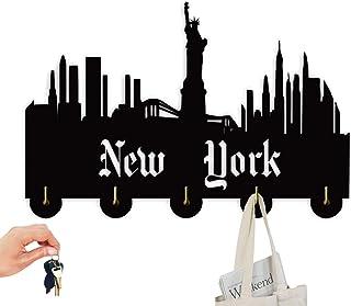 SQINAA décorations pour Les Crochets, New York Urban Style Décor Porte Crochets, Mur Multi-Fonctions Crochet Porte-Clés po...