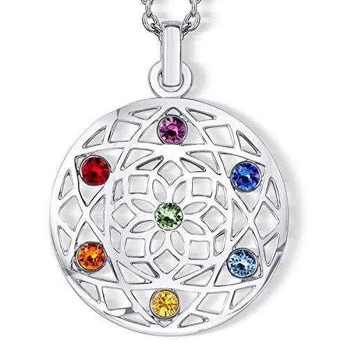 Chakra Flower Halskette mit Swarovski® Kristallen