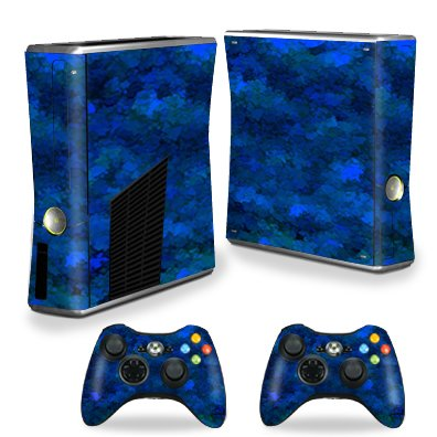 MightySkins Skin Compatible with X-Box 360 Xbox 360 S Console - Blue Ice | Protective, Durable, and Unique Vinyl Decal wrap Cover | Easy to Apply, Remove, and Change Styles | Made in The USA