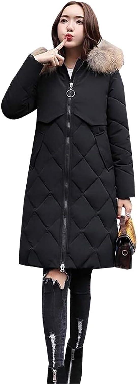 Alion Womens Winter Puffer Down Coat Jacket Faux Fur Trim Hood