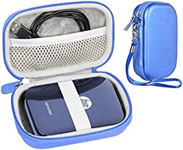 CaseSack Travel Pouch Case with Zipper for Polaroid ZIP Mobile Printer and HP Sprocket, Ocean Blue