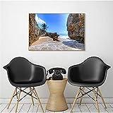 Hermoso Cartel de una Pieza Gran Paisaje Playa mar Costa Verano Viajes impresión Moderna Cuadros de Pared para Sala de Estar decoración del hogar