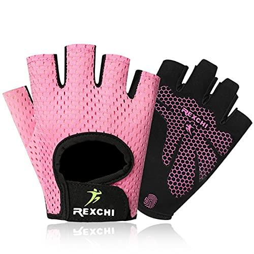 2 pares de guantes de ejercicio Guantes de levantamiento de pesas ajustables Gimnasio Ejercicio Ejercicio Guantes Guantes de entrenamiento transpirables para hombres y mujeres Fitness, Ciclismo, Pull-