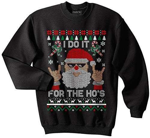 Conspiracy Tee Santa Ugly Christmas Sweater, Ho's, Holidays, Santa Claus, Funny, Meme, Reindeer