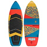 Airhead Fraction Wakesurf Board | Fast, Surf-Shaped Board with Removable Fins and Progressive Rails