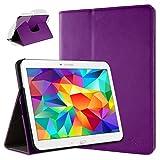 doupi Rotatif Housse pour Samsung Galaxy Tab 4 (10,1 Pouces), Deluxe 360 Degrés Smart Coque de...