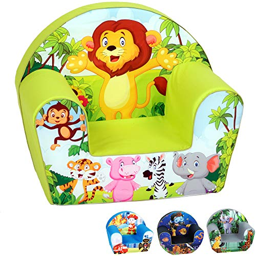 DELSIT Toddler Chair & Kids Armchair - European Made Premium Quality - Perfect Reading Chair for Kids - Lightweight Playroom Decor (Lion)
