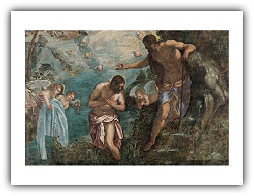 The Ibis Print Gallery - Jacopo Tintoretto : ''Baptism of Christ'' (1580s) - Giclee Fine Art Print