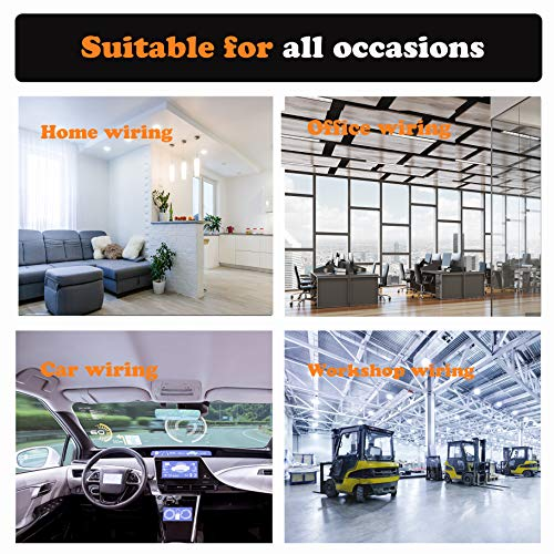 50pcs Cable Clips, Adhesive Cable Organizer Cord Holder, Durable Strong Cable Wire Management for Car, Office and Home (Black)