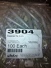 Globe Scientific 3904 Dispenser Syringe Tip for Repeat Volume Pipettors, 5ml Volume (Pack of 100)