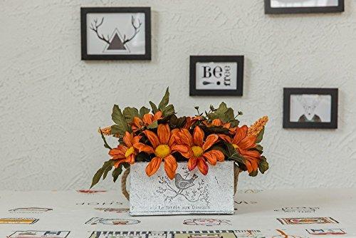 Jnseaol Kunstblumen Künstliche Blumen Gefälschte Blumen Wok Diy Wand Wohnzimmer Schlafzimmer Fensterbank Party Küche Hause Urlaub Geschenke Topfpflanzen Gelb -14