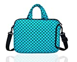 "10.5-Inch Laptop Ipad Shoulder Carrying Bag Case Sleeve for 9.6"" 9.7' 10' 10.1' 10.5' Ipad/Netbook/Tablet/Reader, Mermaid Scale (Blue)"