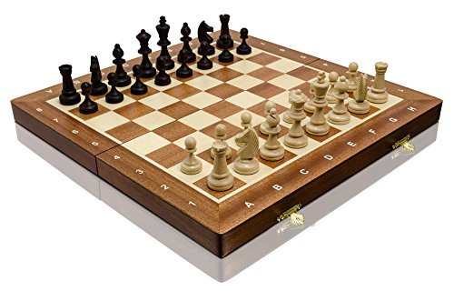 14' TOURNAMENT No.3 professional wooden chess set with Staunton chess pieces 35cm