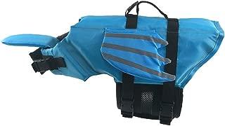 Pathside Dog Life Jacket Adjust Outdoor Wings Swimwear pet Shirt (S, Blue)