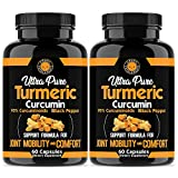 Angry Supplements Ultra Pure Turmeric Curcumin with BioPerine, Black Pepper Extract, 95% Curcuminoids, All Natural Powerful Antioxidant, Non-GMO, Joint Support, Heart Heath, Relief (2-Pack)