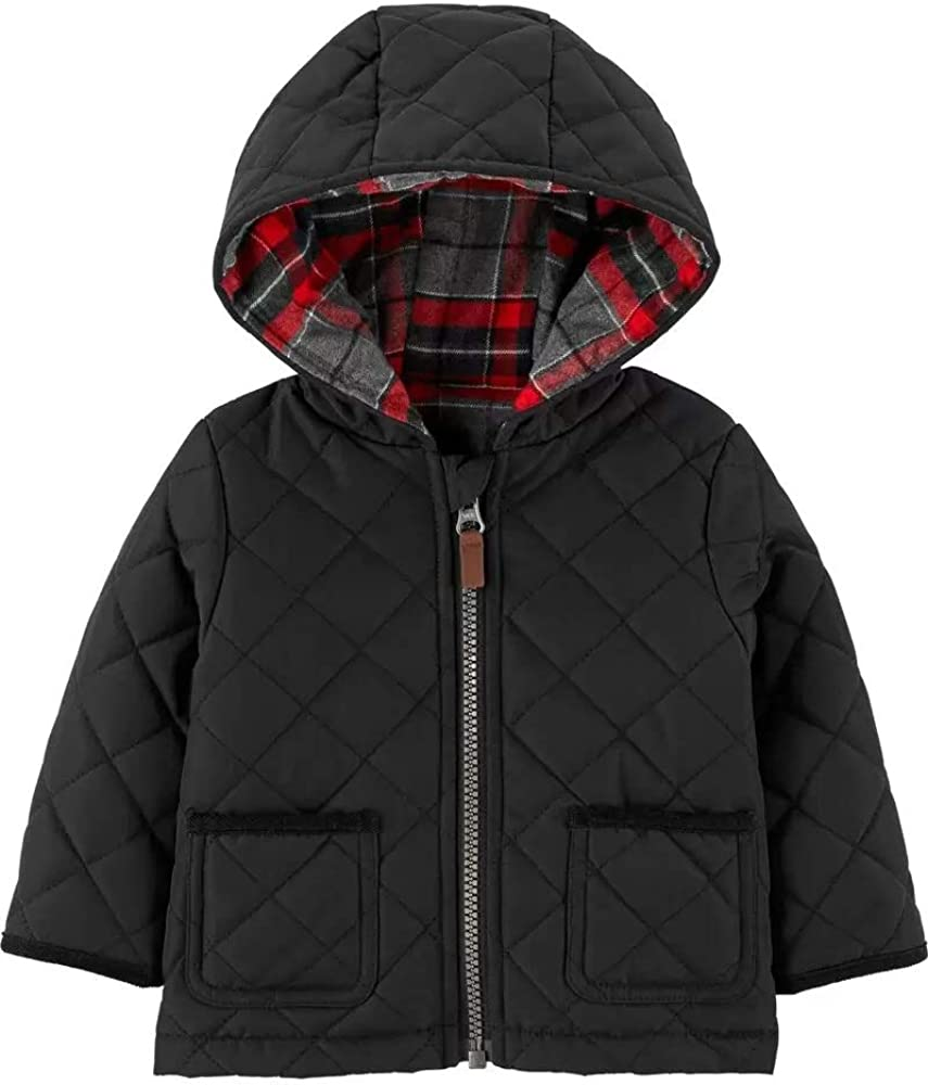 Zip-Up Flannel-Lined Hoodie