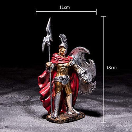 AMITD beeld sculptuur antieke rom ornament sculptuur Spartaans karakter standbeeld hars model Hero Home Spartaanse figuren Oorspronkelijke figuur decoreren handwerk, 1