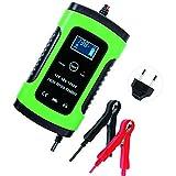 KKmoon Caricabatterie per Moto Auto da 12V 6A per Riparazione di Impulsi Caricabatterie Completamente Automatico per Batterie con display LCD digitale