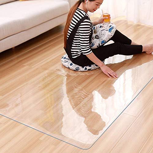 SHAFAJNC Bürostuhlunterlage Bodenschutzmatte,extra Transparent Und rutschfest Optimales Gleitverhalten Für Stuhlrollen Unterlegmatte Schutzmatte Für Parkett Laminat PVC-Böden-60x60cm(24x24inch)-1.5mm