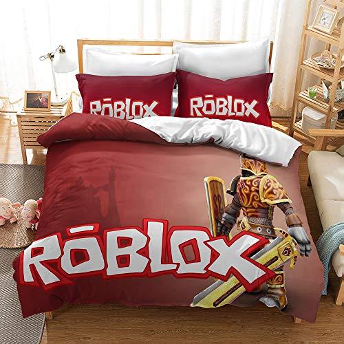 Neighbor Axin Roblox Youth Duvet Cover 3D HD Roblox Juego De Cama (incluida La Funda De Almohada A Juego) Tema del Juego Roblox Ropa De Cama Súper Suave Y Cómoda (A8,220x240cm)