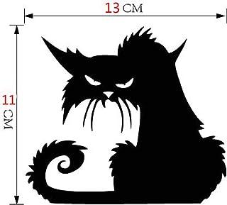 comprar comparacion YGbuy Vinilo Etiqueta De La Pared 3D Desmontable Halloween Gato Negro Apliques Decorativos Apliques De Pared Adornos De Pa...