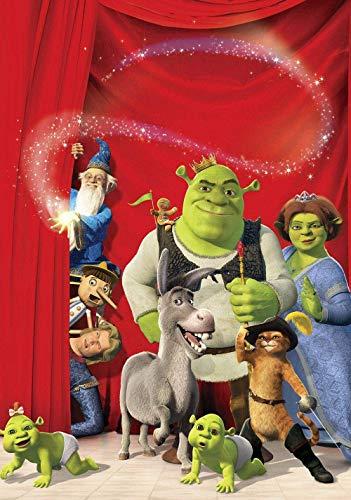 Clásico Rompecabezas para niños Adultos 1000 Piezas-Shrek The Third Movie Posters-Puzzle Game Regalo del día de San Valentín para niños y niñas Regalo