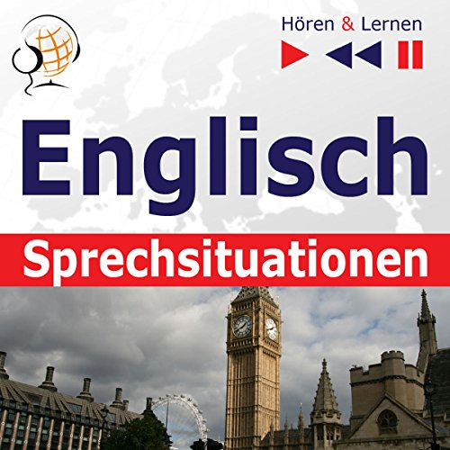 Englisch - Sprechsituationen: A Month in Brighton / Holiday Travels / Business English / Grammar Tenses (Hören & Lernen) audiobook cover art