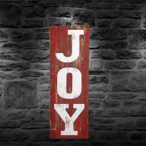 BYRON HOYLE Letrero de madera Joy para colgar en la pared, placa de pared inspiradora de granja, decoración rústica para sala de estar, guardería, dormitorio, porche, pared de galería